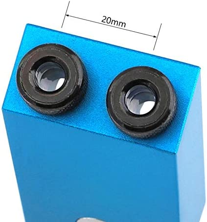 DIY Tools Pocket Hole Jig with Magnetic Back 6mm 8mm 10mm Wood Drill Hole Drill Guide Aluminum Alloy Wood Jig Tool for Carpentry (Color : D) C