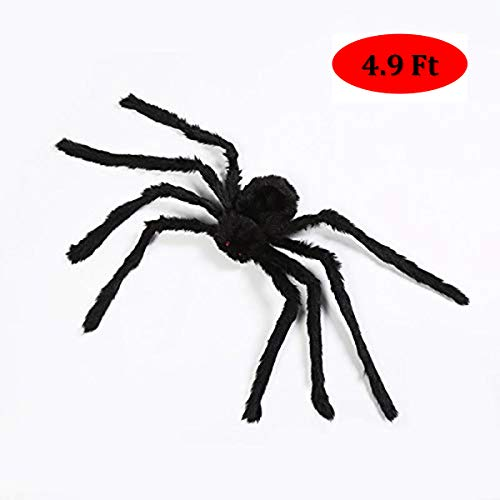 CCopnts Giant Halloween Decorations Spiders, Foldable Scary Huge Spiders Haunted House Prop, Outdoor Indoor Yard Décor (Black-2)