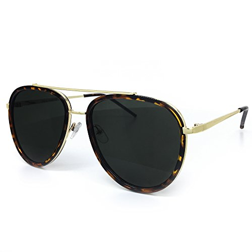 Aviator Vintage Womens Sunglasses Retro Eyewear Lens Black - 1