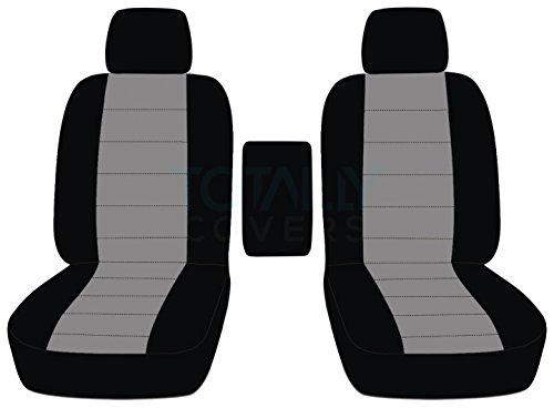 Totally Covers Fits 2009-2014 Ford F-150 Two-Tone Truck Bucket Seat Covers with Center Armrest: Black & Gray (21 Colors) 2010 2011 2012 2013 F-Series F150 Front ()