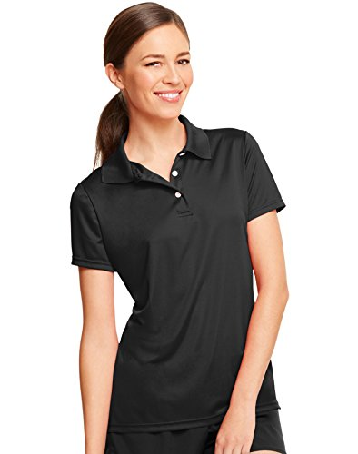 - Hanes by Women's Cool Dri Sportshirt_Black_M