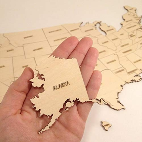 Laser cut United States map/USA Map / / Laser cut wood/Laser cut map/State cutout/State maps/State shaped/Wooden states/States