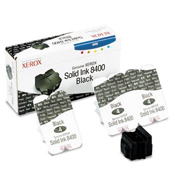 Xerox 108R00604 Solid Ink Stick, Black, 3/Box - in Retail Packaging