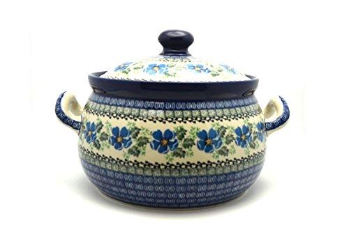 Polish Pottery Covered Tureen without ladle slot Morning Glory