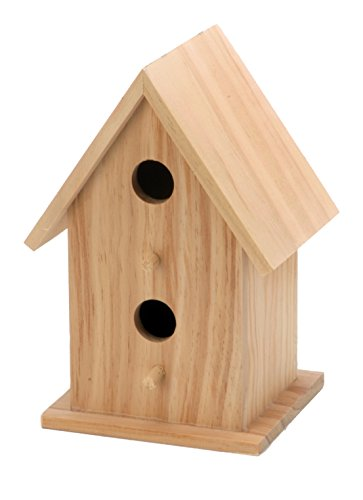 Darice Wood Bird House 2 Openings