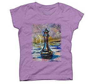 QUEEN OF CHESS Girl's Youth Graphic T Shirt - Design By Humans
