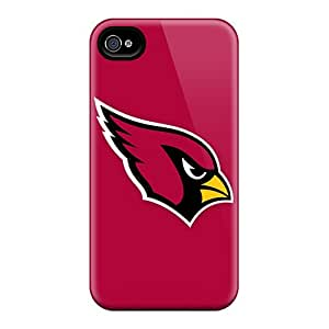 Faddish Phone Arizona Cardinals 4 Case For Iphone 4/4s / Perfect Case Cover
