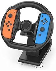 stuurwiel controleschakelaar Controller Bijlage met 4 zuignappen voor Nintendo Switch Racing Game NS Accessoire Stuurwielgedeelte voor Joy-Con-compatibel Voor autostuurwiel