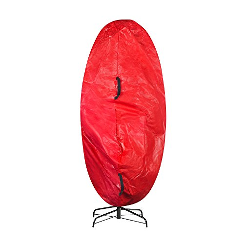 Elf Stor Premium Christmas Tree Cover Holiday Red Large Size for For 7.5 Ft Tree (Bag Tree Storage Christmas On Wheels)
