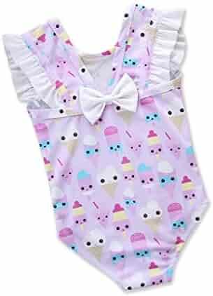Cuekondy Toddler Baby Girls Kids 2019 Newest Colorful Fish Scale Mermaid Ruffle One-Piece Swimsuit Swimwear Bathing Suit