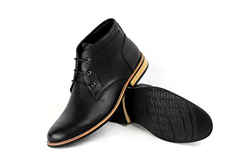 Hommes Bottine Mode Décontractée Motard Chaussures Habillées Élégant UK 6 7 8 9 10 45 Neuf Noir ZdLX9hPu