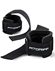 Fitgriff® Lifting Straps + Wrist Support Padding - Comfort Gym Straps for Weightlifting, Bodybuilding, Gym, Workout - Men and Women