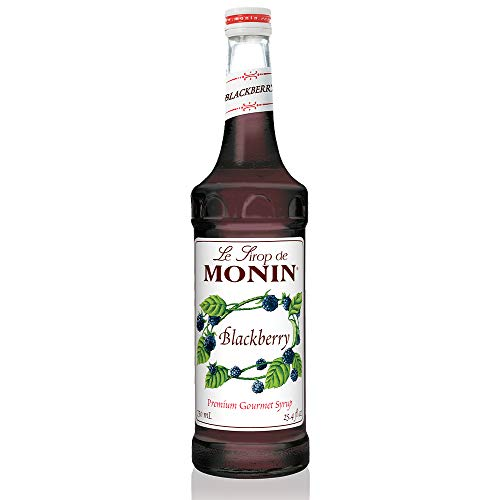 Monin - Blackberry Syrup, Soft and Succulent, Great for Cocktails, Lemonades, and Sodas, Gluten-Free, Vegan, Non-GMO (750 ml)