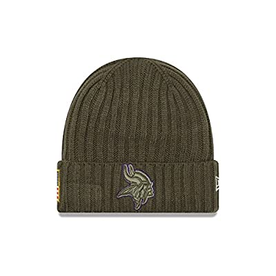 "Minnesota Vikings New Era 2017 NFL Sideline ""Salute to Service"" Knit Hat"