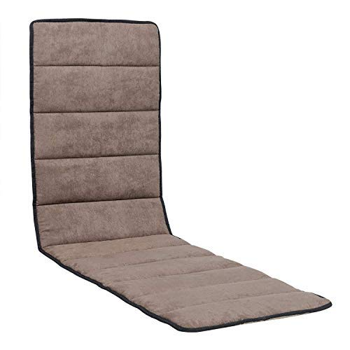 Cross Land Removable Suede Cushion for Patio Recliner Zero Gravity Chair Cotton Pad for Chaise Lounge Chair Indoor, Outdoor, Office Lounge Chair (Suede Cushion, Brown) ()
