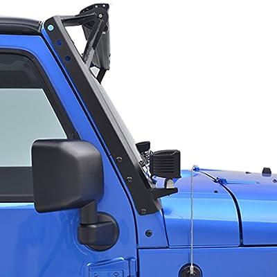 "E-Autogrilles 07-16 Jeep Wrangler JK Windshield Mounting Brackets for 52"" LED Lights(1 Pair) (51-0451)"