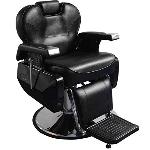 All Purpose Hydraulic Reclining Barber Chair Salon Spa Beauty Hydraulic Pump Chairs Styling Equipment Black