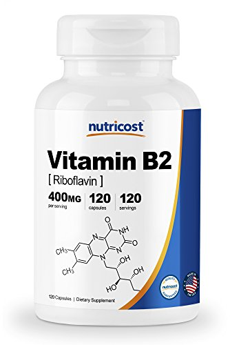 Nutricost Vitamin B2 (Riboflavin) 400mg, 120 Capsules Review