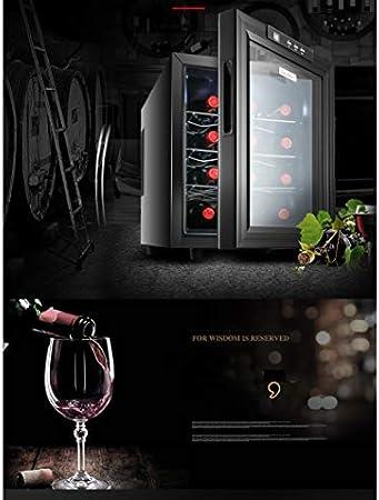 JCOCO-12 Botellas de enfriador/enfriador de ElectricWine - Temperatura constante y humedad Bodega de vinos - Gabinete de enfriamiento de cigarros para oficina en el hogar