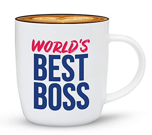 Gifffted The Worlds Best Boss Ever Coffee Mug, Bosses Day, Gifts Ideas For Bosss. Present For My Greatest Boss Male or Female, Men, Women, Christmas Gift Mugs, Birthday, Leaving, Bold, Cup, 13 Oz