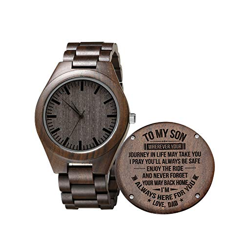 Engraved Wooden Watch for Son and...