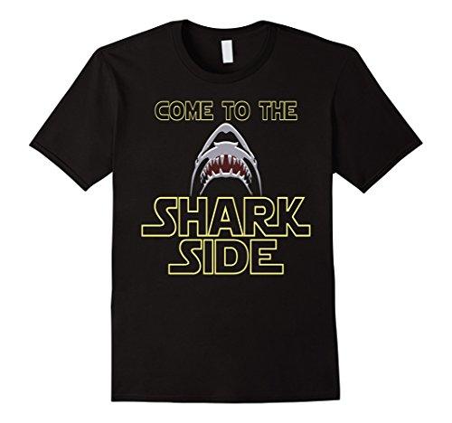 Mens Great White Shark Shirt For Shark Lovers T-Shirt Large Black