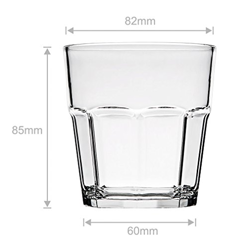 8Pack Unbreakable Rocks Glasses, Old Fashioned Drinking Glasses, 100% Clear Tritan Shatterproof Tumblers, Stackable Reusable Glassware Set for Juice Beer Water, BPA Free, Dishwasher Safe by YINGANG (Image #5)