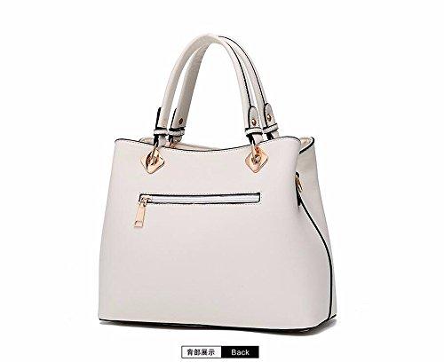 para Rojo CCZUIML Hombro de Mujer Bolso Blanco Bag TwqaRxS