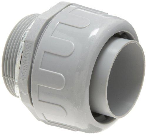 - Morris Products 21818 Non-Metallic Liquid Tight Connector, Straight, Steel Locknut, 2