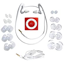 Red Underwater Audio- Waterproof iPod Shuffle, HydroActive Headphone Bundle