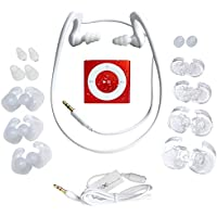 Underwater Audio- Waterproof iPod Shuffle, HydroActive Headphone Bundle (Red)