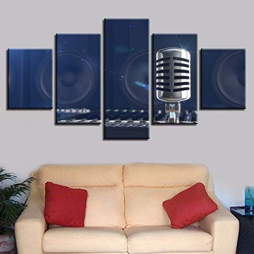 40x60 40x80 40x100cm No Frame Picture Home Decoration Canvas Painting Fashion Wall 5 Panel Radio Modular Framework for Living Room Modern Type