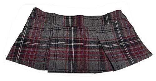 [Folter Womens/Juniors TEACHERS PET Micro-Mini Skirt (Grey, S)] (Teachers Pet School Girl Costume)