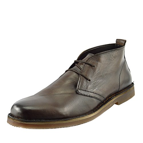 Kick Footwear Herren Leder Wüste Ankle Lace Up Braune Chelsea Stiefel Braun