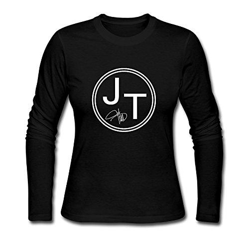 Women's Justin Timberlake JT Logo Long Sleeve T - Justin Clothes Timberlake