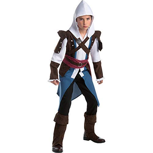 Costume Halloween Indie (AFG Media Ltd Edward Halloween Costume for Boys, Assassin's Creed, Large, with)
