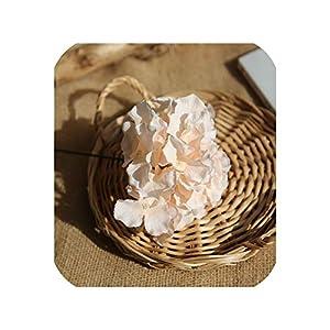 loveinfinite 10PCS Artificial Flower Bunch of Hydrangea Bouquet DIY Silk Flower Bridal Bouquets Home Table Wedding Decoration Floral,4 65