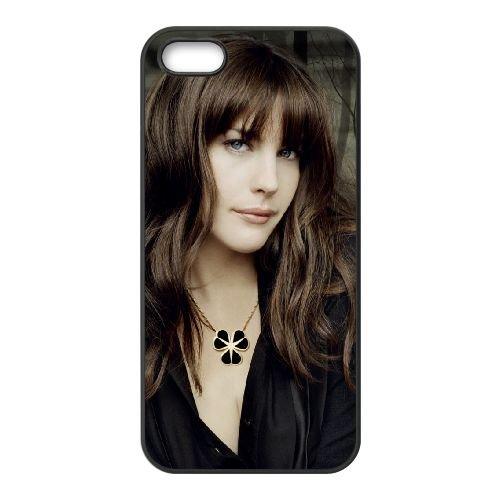 Liv Tyler 2 coque iPhone 5 5S cellulaire cas coque de téléphone cas téléphone cellulaire noir couvercle EOKXLLNCD25600