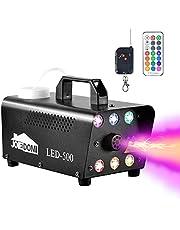 Máquina de niebla de Halloween, máquina de humo de Halloween 500W con luces LED de 6 colores y control remoto inalámbrico para fiestas de Halloween, decoración, eventos de vacaciones