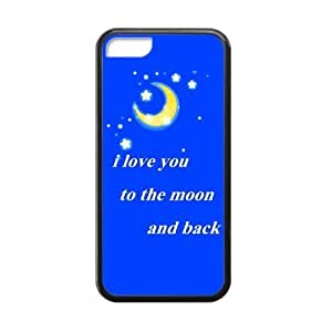 Fashion iphone 5s Cover I Love You to the Moon one And have Back orange Custom Cases for iphone 5s TPU (Laser Technology) also