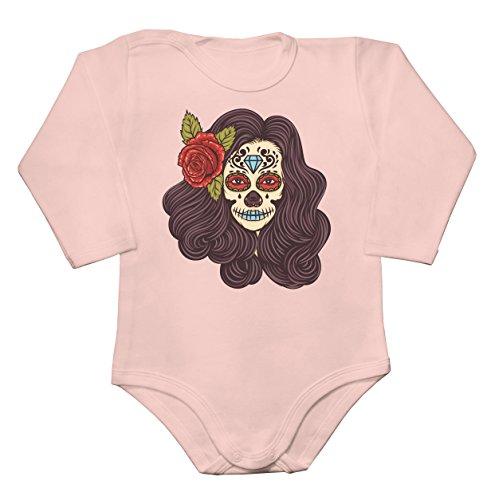 Creepy Girl With Flower In Her Hair Baby Long Sleeve Romper Bodysuit Large]()