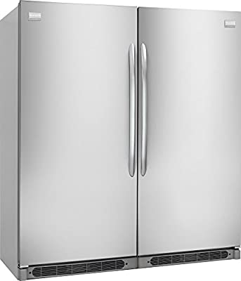 """Frigidaire 64"""" Built-In All Refrigerator and All Freezer Combo with 18.6 cu. ft. Refrigerator and 18.6 cu. ft. Freezer in Stainless"""