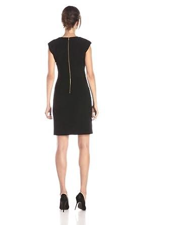 Calvin Klein Women S Shift Dress With Gold Tone Hardware