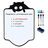 Magnetic Dry Erase Whiteboard Sheet for Fridge with New Stain Resistant Technology Kitchen Refrigerator White Board Reminder with Eraser, 3 Magnetic Pens & 4 Photo Holders