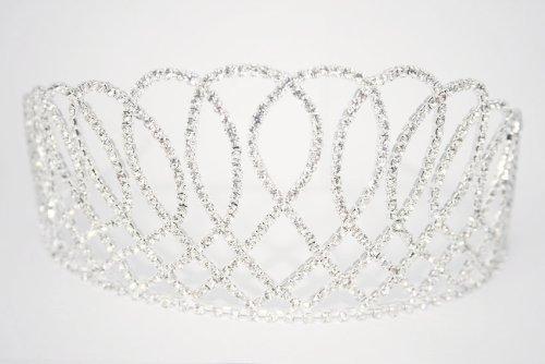 LJ Designs T002. Large 'Opulence' Crystal Tiara by LJ Designs