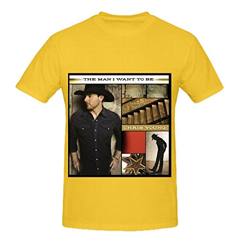 Chris Young The Man I Want To Be Men Crew Neck Customized T Shirt Yellow