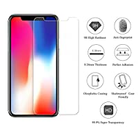 XLon iPhone Xs/X Screen Protector, 0.26mm 9H Tempered Shatterproof Glass Screen Protector Anti-Shatter Film [3D Touch Compatible & 3-Pack] from XLon