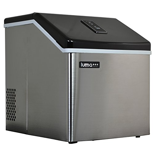 Luma Comfort IM200SS Portable Clear Ice Maker, Stainless Steel by Luma Comfort