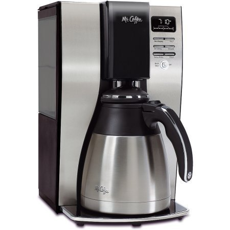 Mr. Coffee BVMCPSTX91 Optimal Brew 10-Cup Thermal Programmable Coffeemaker, Black/Brushed Silver