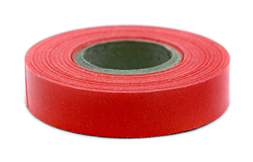(ChromaLabel 1/2 inch Color-Code Labeling Tape | 500 inch Roll (Red) )